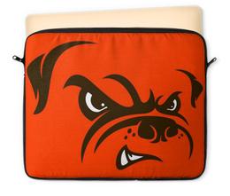 """Чехол для ноутбука 12"""" """"Бульдог"""" - юмор, рисунок, бульдог, злая собака"""