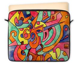 """Чехол для ноутбука 12"""" """"FWE`11ECCCJJ"""" - арт, узор, абстракция, фигуры, текстура"""