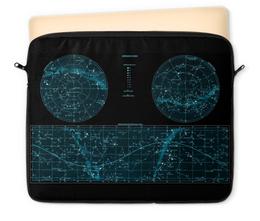 """Чехол для ноутбука 12"""" """"Карта звёздного неба"""" - карта, дизайн, звёзды"""