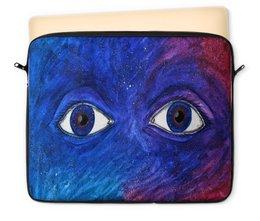 "Чехол для ноутбука 12"" ""Space look"" - space, звезды, глаза, космос, абстракция"