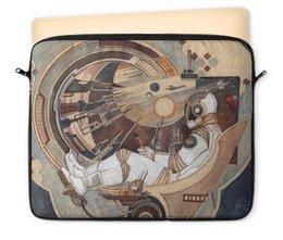 """Чехол для ноутбука 12"""" """"Окно в Бесконечность"""" - космос, вселенная, ракета, астронавт, космонавт"""