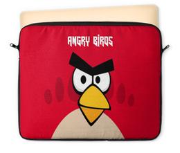 "Чехол для ноутбука 12"" ""Angry Birds (Terence)"" - terence, птички, компьютерная игра, мультфильм, angry birds"