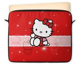 "Чехол для ноутбука 12"" ""Hello Kitty с искрами"" - hello kitty, мультфильм, для детей, кошечка, искры"