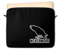 "Чехол для ноутбука 12"" ""Nevermore"" - crow, nevermore, bird, edgar, rawen"