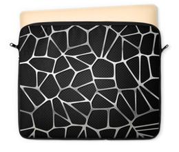 """Чехол для ноутбука 12"""" """"Абстрактный"""" - узор, мозаика, абстрактный, сетка, металлический"""