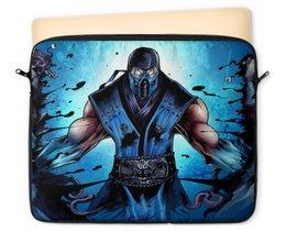 """Чехол для ноутбука 12"""" """"Mortal Kombat X (Sub-Zero)"""" - воин, боец, лед, mortal kombat, sub-zero"""