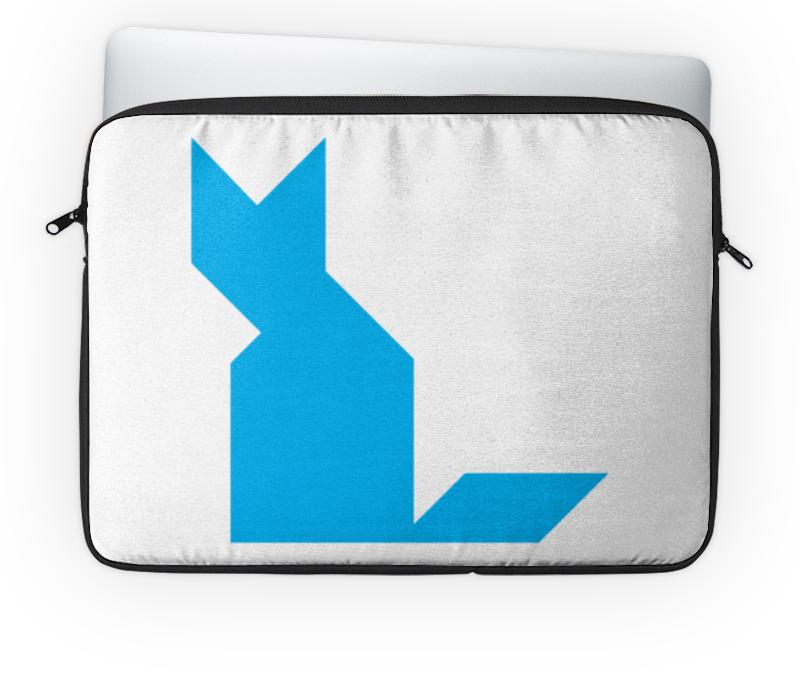 Чехол для ноутбука 14 Printio Голубая кошка танграм чехол для ноутбука 14 printio голубая собака танграм