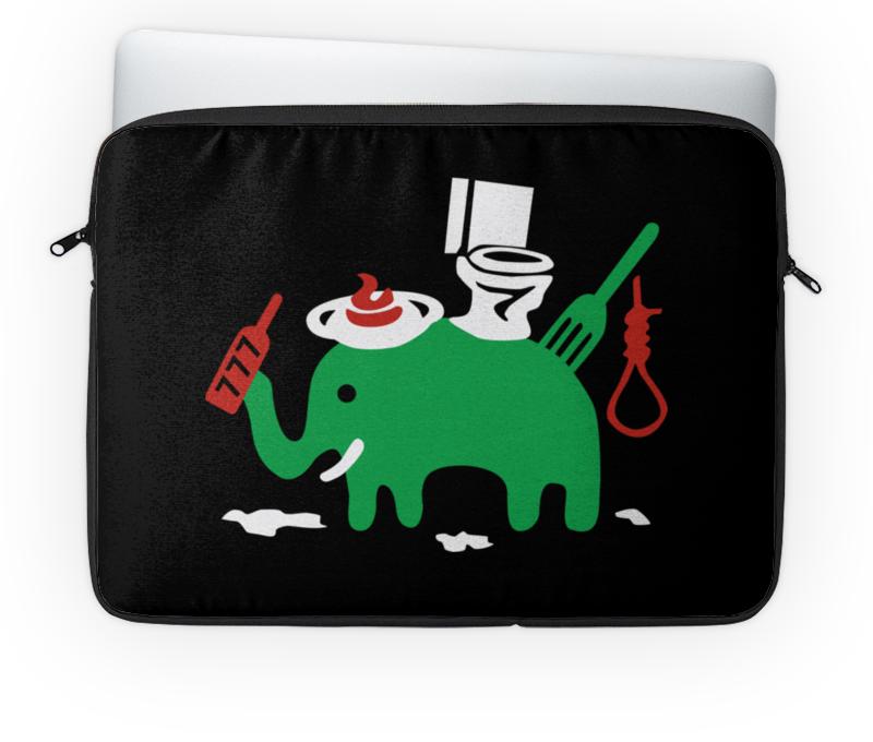 Чехол для ноутбука 14'' Printio Зелёный слоник евгений лапутин википедия