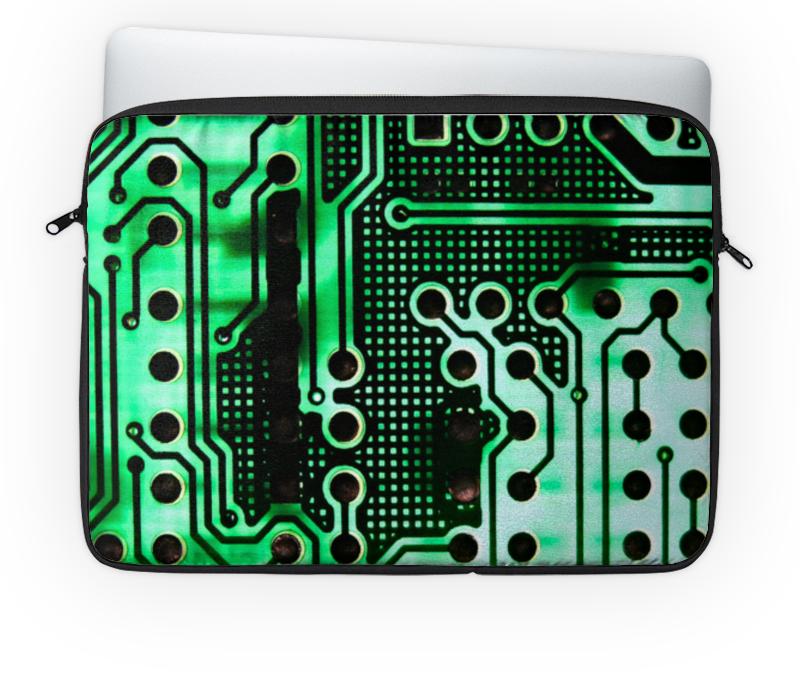 Чехол для ноутбука 14'' Printio Компьютерный чип монитор компьютерный