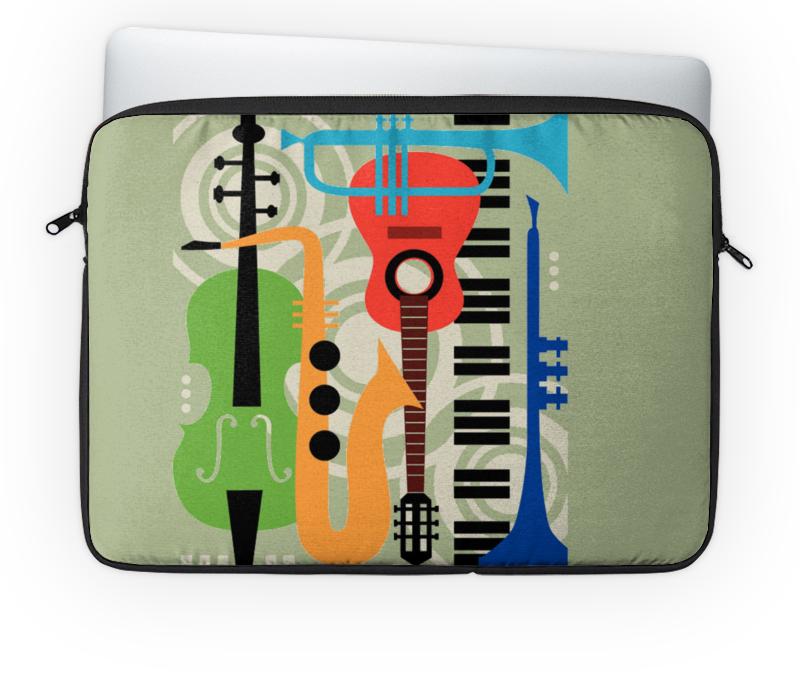 Чехол для ноутбука 14'' Printio Музыкальные инструменты