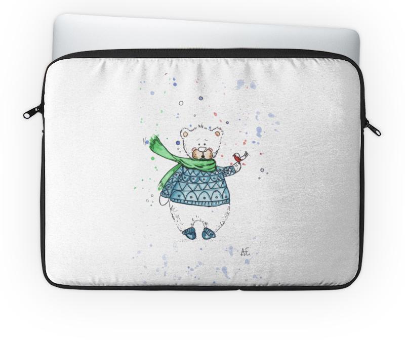 Чехол для ноутбука 14'' Printio Белый мишка фиксатор двери мир детства мишка