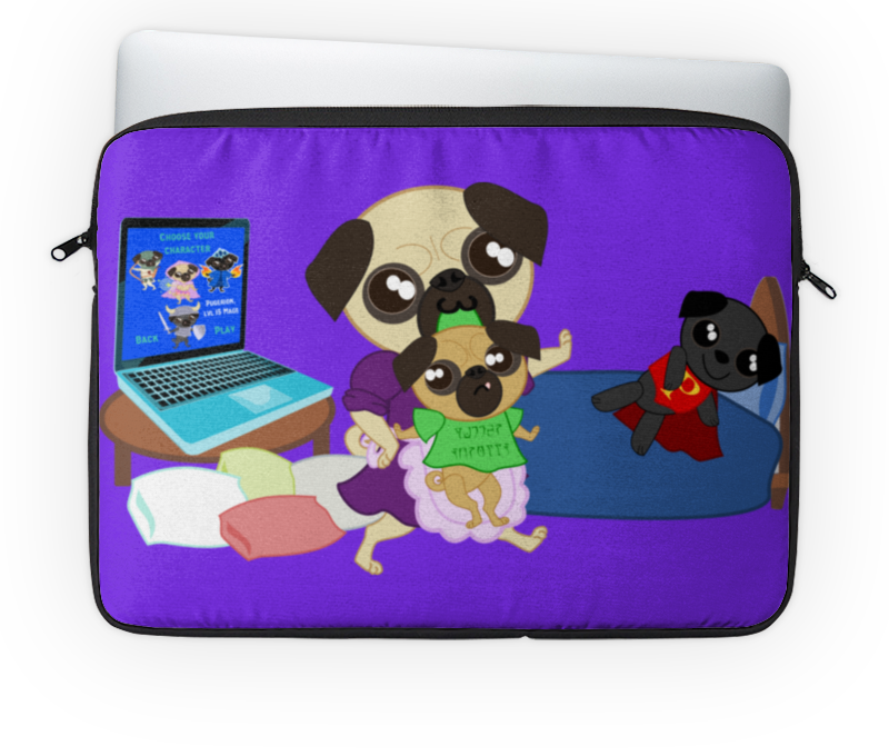 Чехол для ноутбука 14 Printio Мопс-геймер цена