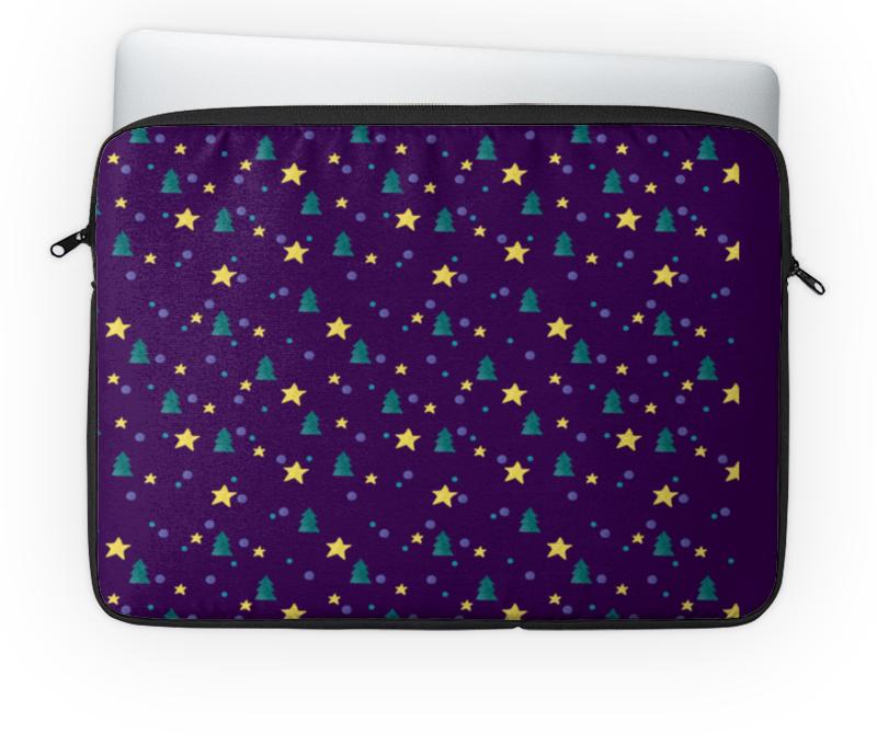 Чехол для ноутбука 14'' Printio Елки и звезды нашествие дни и ночи