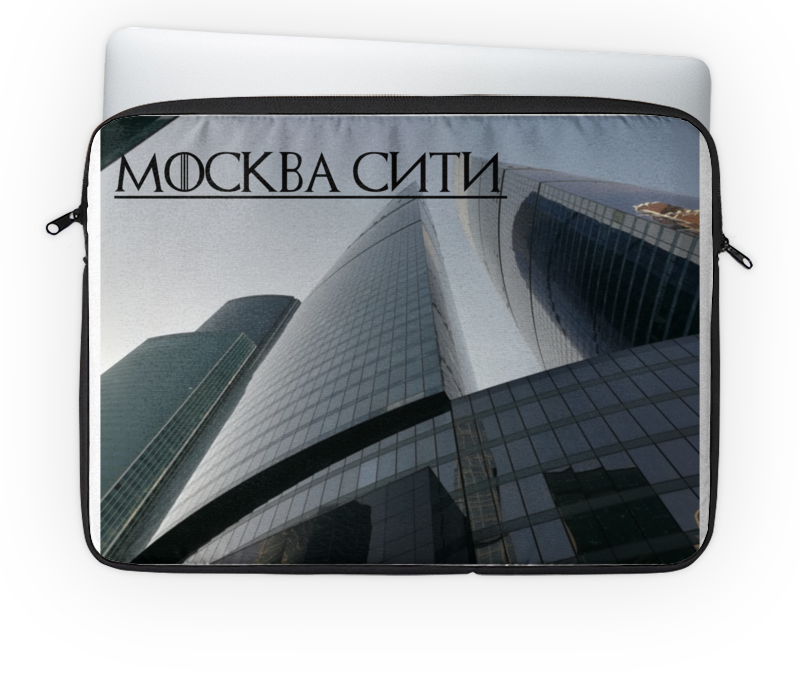 Чехол для ноутбука 14 Printio москва сити