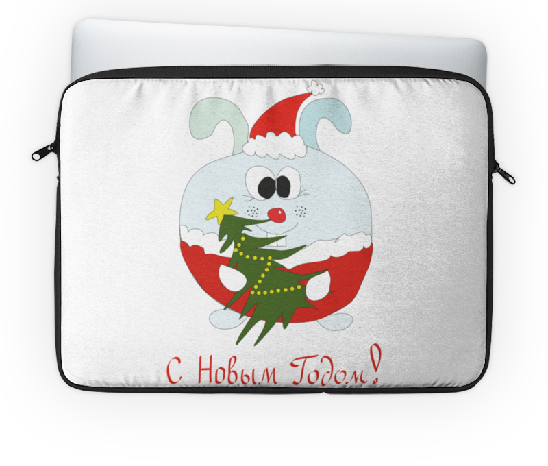 Чехол для ноутбука 14 Printio Новогодний заяц сладкий новогодний подарок почта деда мороза 2 600 г