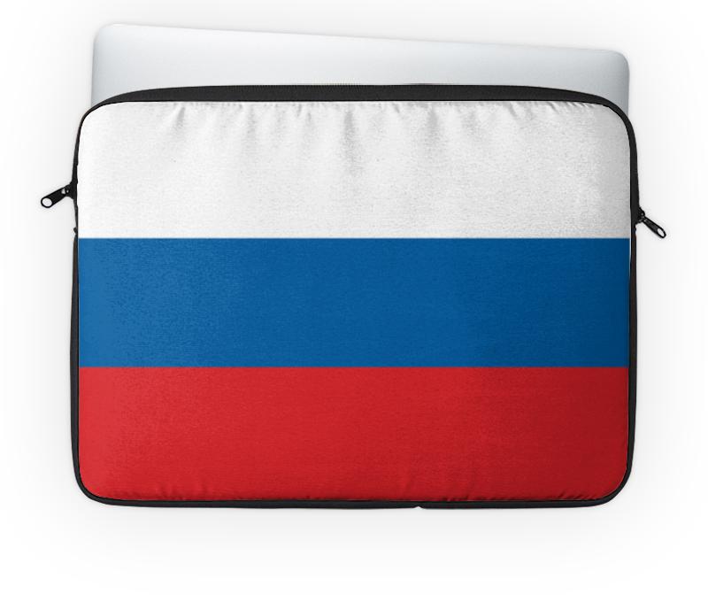 Чехол для ноутбука 14 Printio Флаг россии цена