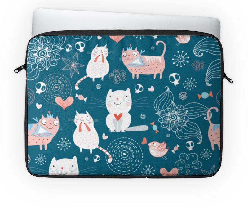 Чехол для ноутбука 14'' Printio Прикольные коты