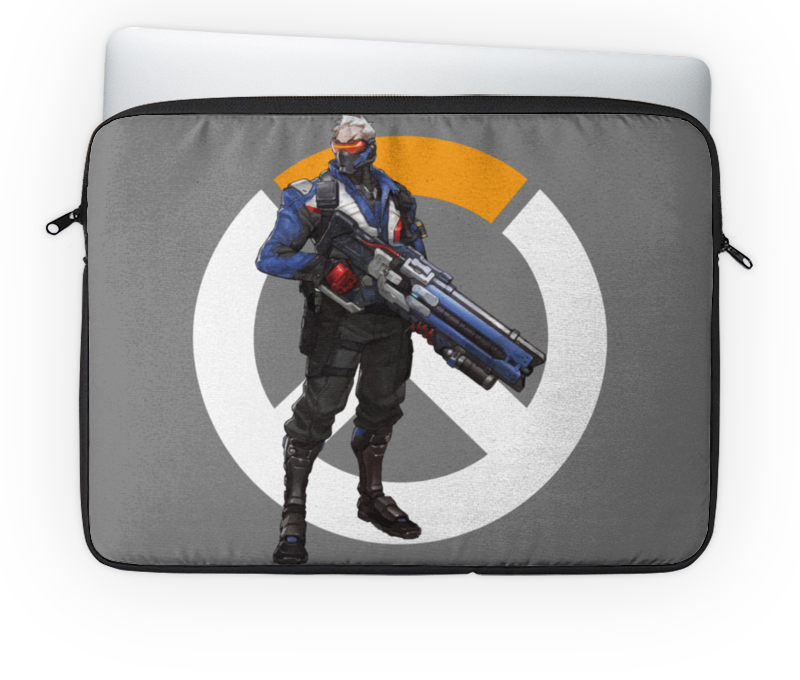 Чехол для ноутбука 14'' Printio Overwatch soldier 76 / овервотч солдат 76