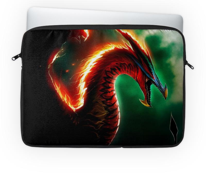 Чехол для ноутбука 14'' Printio Огненный дракон огненный меч верт