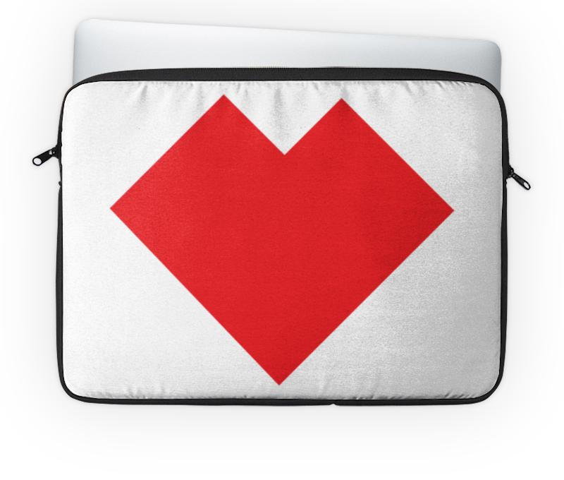Чехол для ноутбука 14 Printio Красное и голубое сердце танграм чехол для ноутбука 14 printio голубая собака танграм