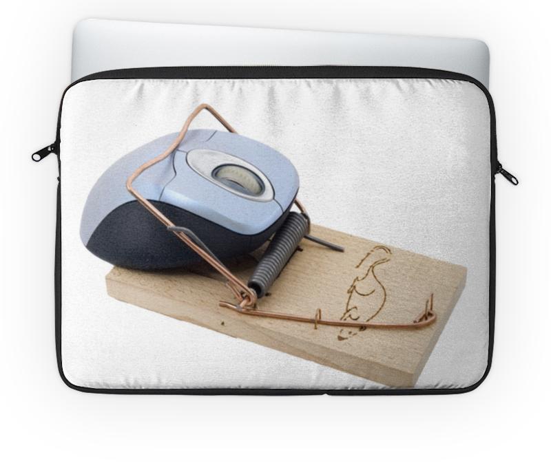 Чехол для ноутбука 14 Printio Компьютерная мышка в мышеловке