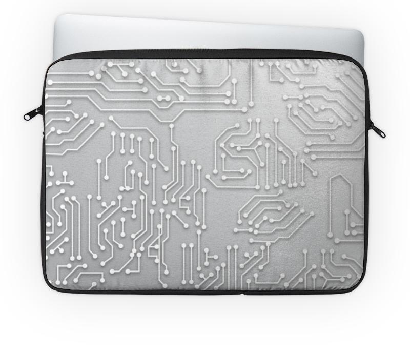 Чехол для ноутбука 14'' Printio Микросхема компьютерный складной кроватный столик для ноутбука smart bird pt 36