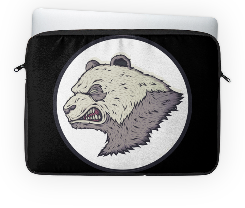 Чехол для ноутбука 14'' Printio Angry panda / злая панда