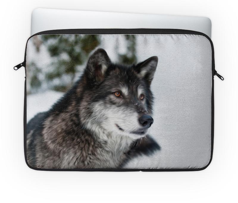 Чехол для ноутбука 14 Printio Серый волк чехол для ноутбука 12 printio волк в лесу