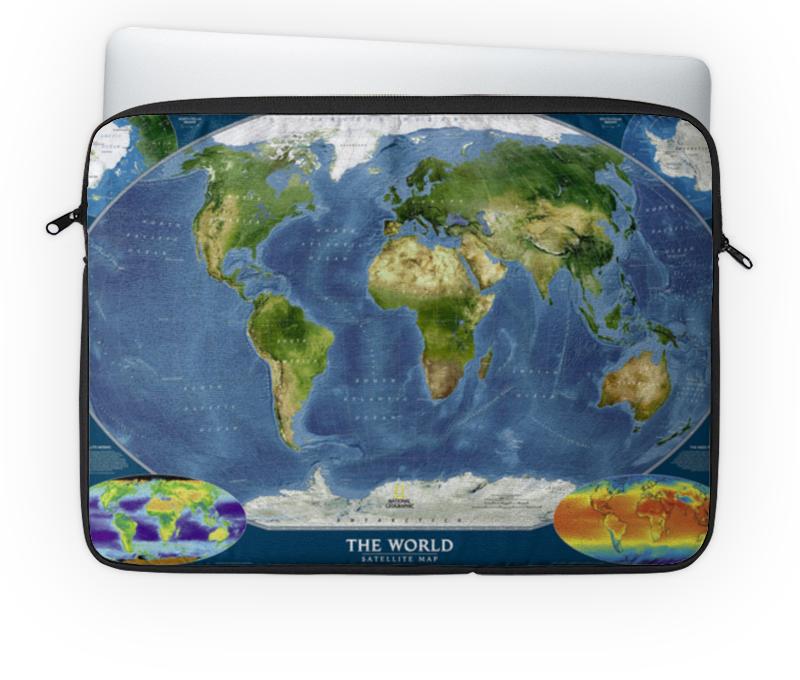 Чехол для ноутбука 14'' Printio Карта мира goldfish карта goldfish съемная бумага для кухни насосной полотенца пакет 75 насосных 3