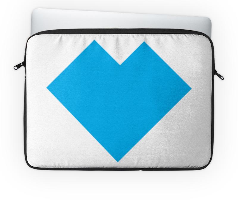 Чехол для ноутбука 14 Printio Голубое сердце танграм чехол для ноутбука 14 printio красное и голубое сердце танграм