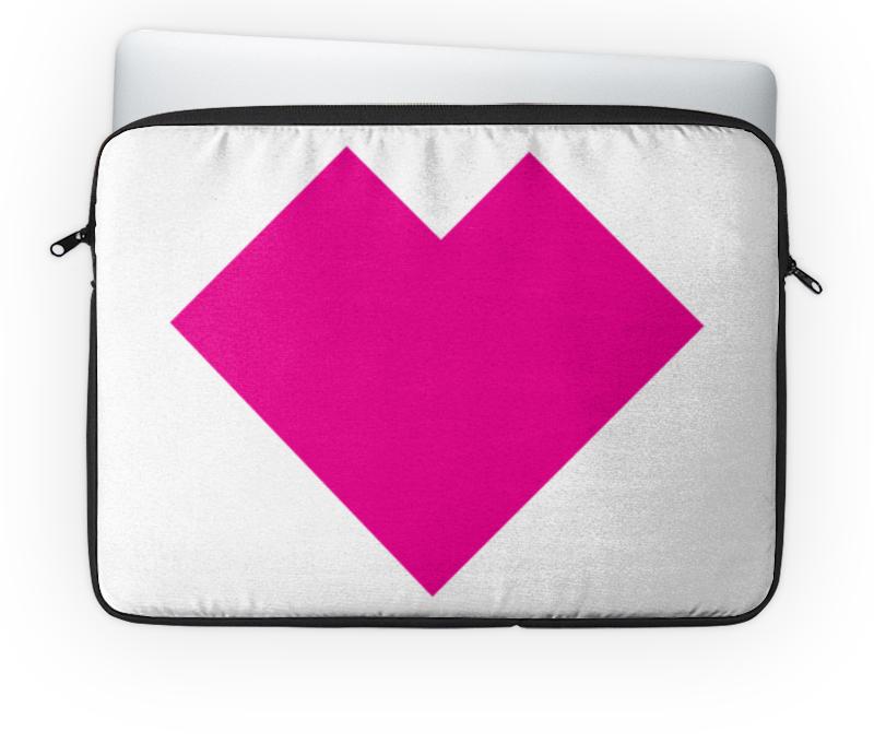 Чехол для ноутбука 14 Printio Розовое сердце танграм чехол для ноутбука 14 printio голубая собака танграм