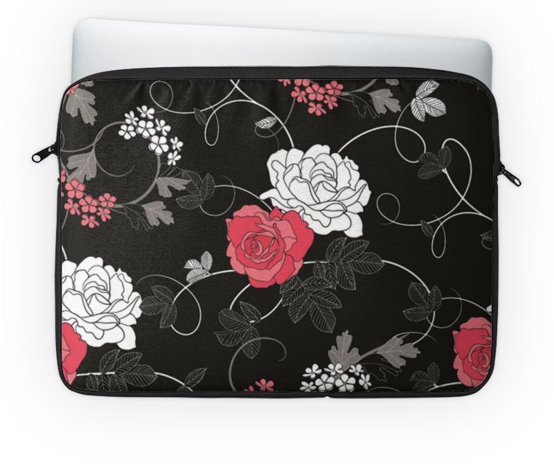 Чехол для ноутбука 14'' Printio Красная и белая розы