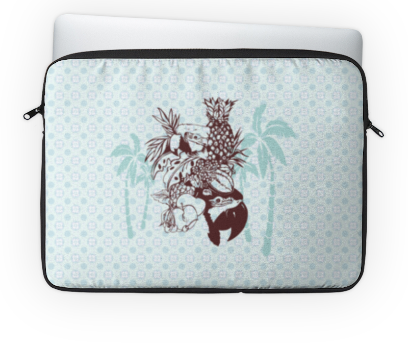 Чехол для ноутбука 14'' Printio Тропики чехол для карточек попугаи дк2017 112