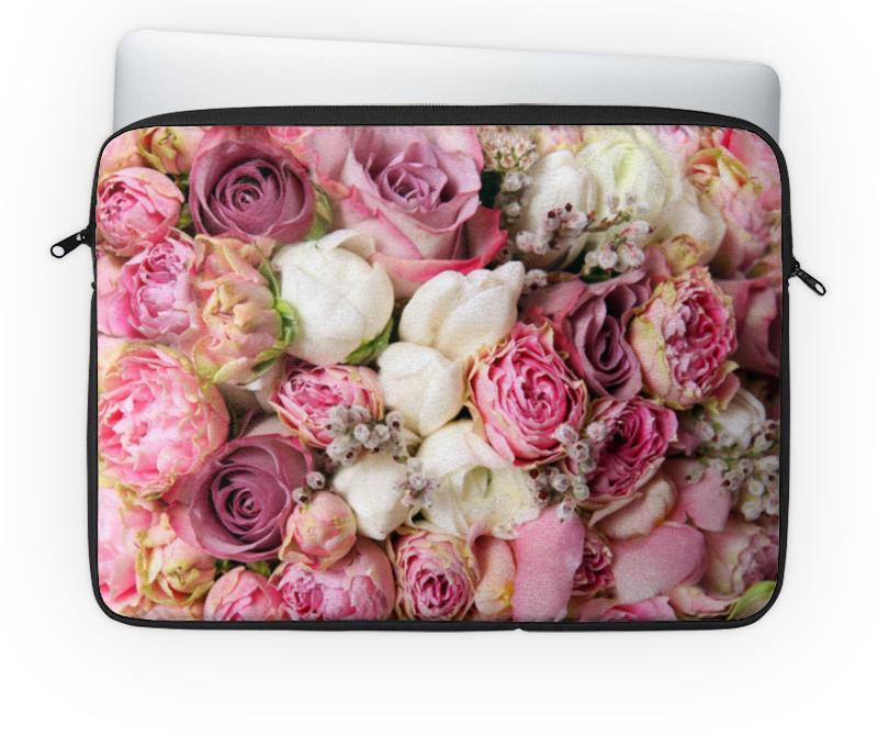 Чехол для ноутбука 14'' Printio Цветы