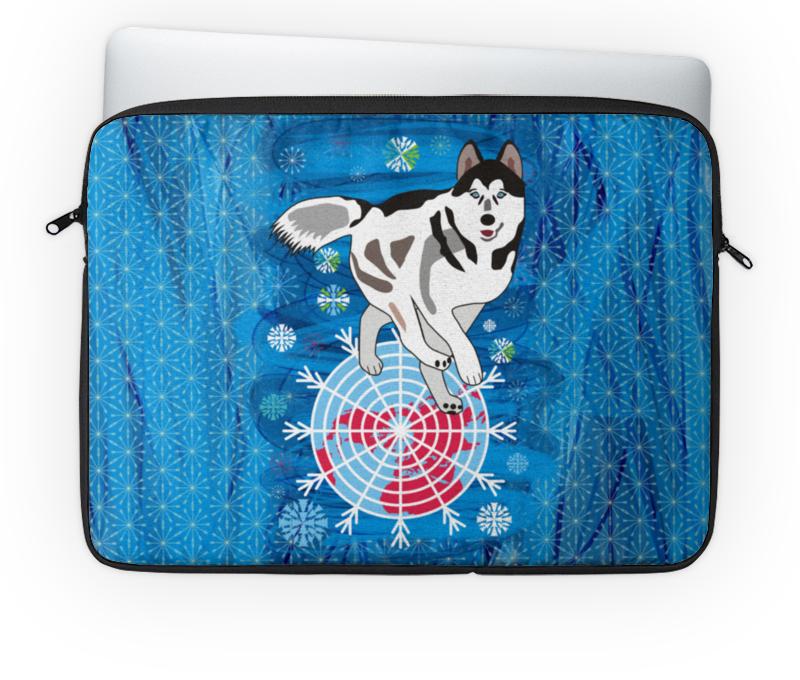 Чехол для ноутбука 14'' Printio Бегущая по снегам бегущая строка светодиодная дешево