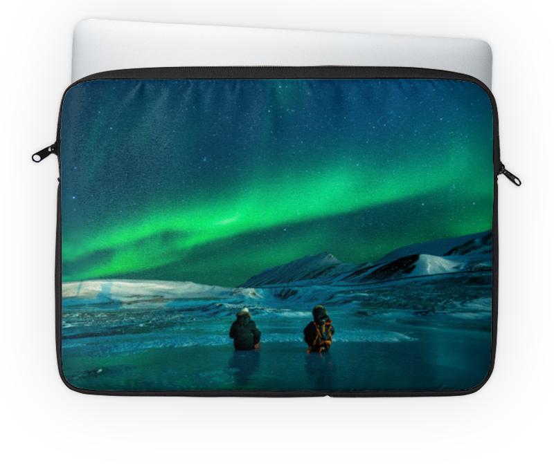 Чехол для ноутбука 14'' Printio Северное сияние гирлянда холодный цвет северное сияние