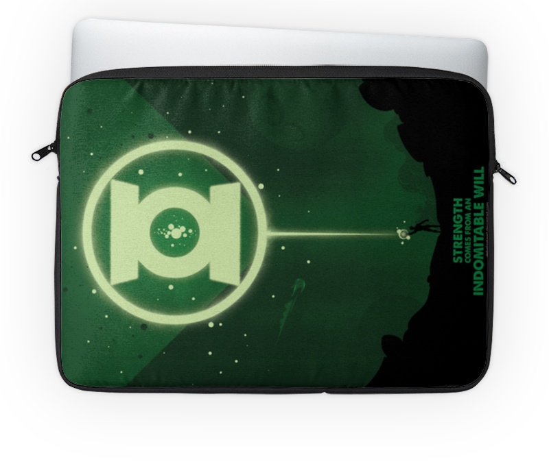 Чехол для ноутбука 14'' Printio Green lantern/зеленый фонарь 14 чехол для ноутбука hp chroma sleeve серый зеленый