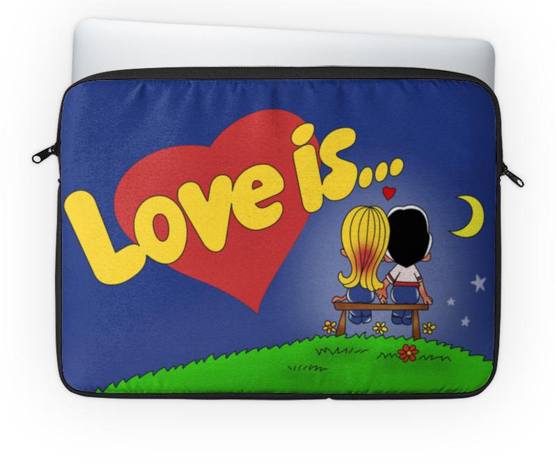 Чехол для ноутбука 14'' Printio Love is... чехлы для телефонов with love moscow силиконовый дизайнерский чехол для meizu m3s перья