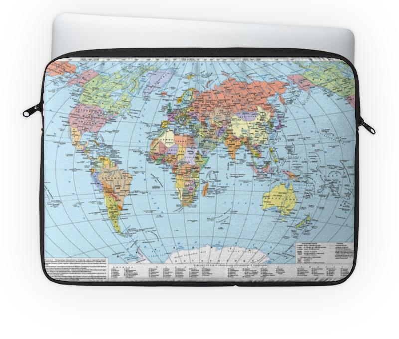 Чехол для ноутбука 14'' Printio Карта мира политическая карта мира
