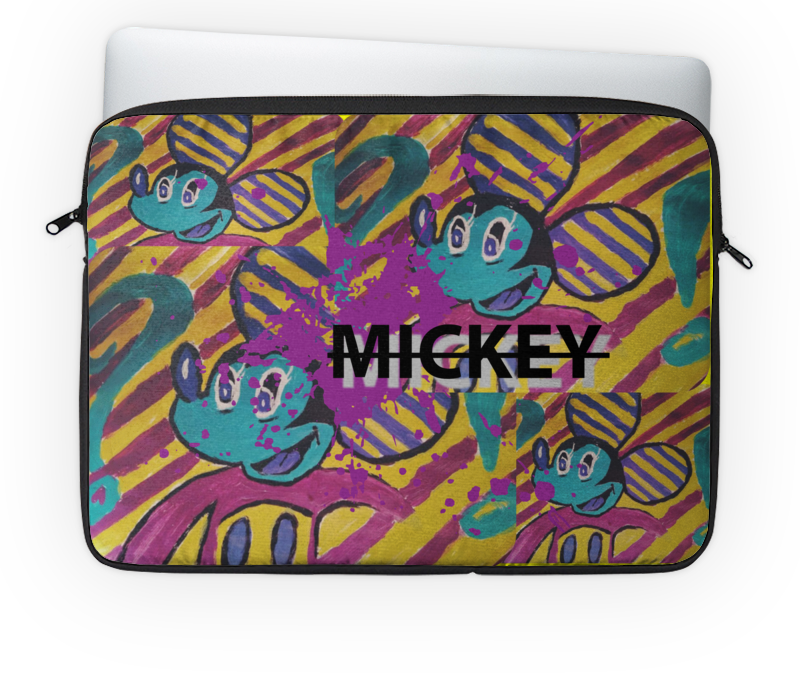 Чехол для ноутбука 14'' Printio Mickey usb перезаряжаемый триммер для детей с полным набором принадлежностей