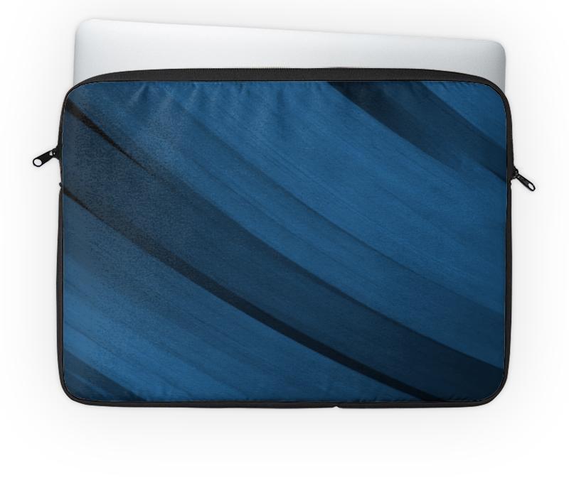 Чехол для ноутбука 14'' Printio Синяя абстракция чехол для карточек цветные совы на синем фоне дк2017 112