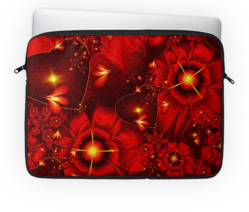 Чехол для ноутбука 14'' Printio Красные цветы чехол для ноутбука 14 printio цветы акварель