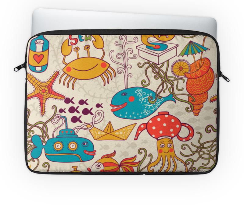 Чехол для ноутбука 14'' Printio Морские обитатели луч морские обитатели
