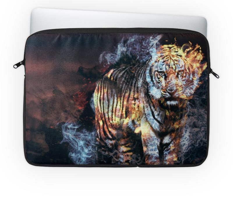Чехол для ноутбука 14 Printio Огненный тигр ezflow гелевый лак огненный закат ezflow trugel blazin sunset 19300 95 14 мл