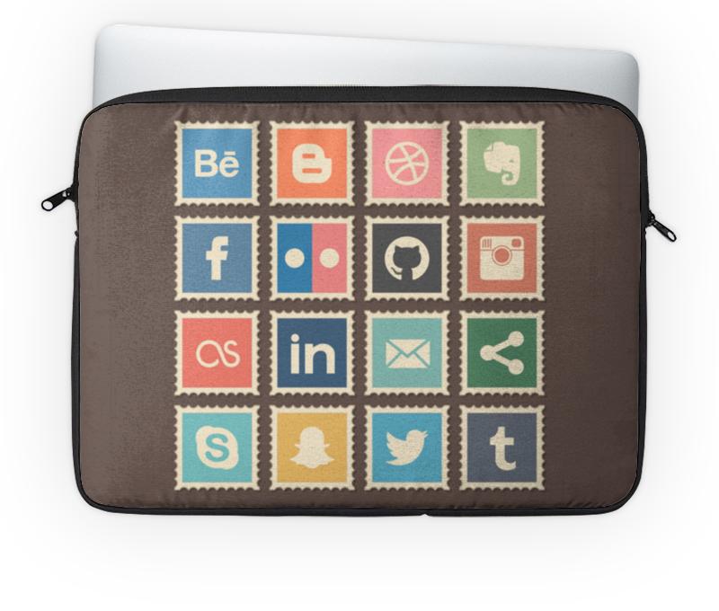 Чехол для ноутбука 14'' Printio Социальные сети купить эмблемы для авто заказ