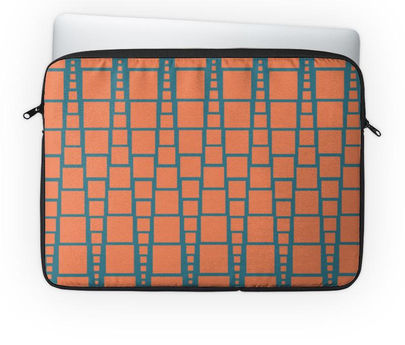 Чехол для ноутбука 14'' Printio Квадраты чехол для карточек пионы на синем фоне дк2017 113