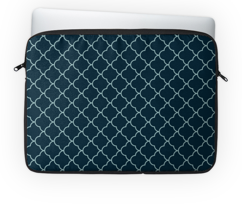 Чехол для ноутбука 14'' Printio Абстрактный чехол для карточек пионы на синем фоне дк2017 113