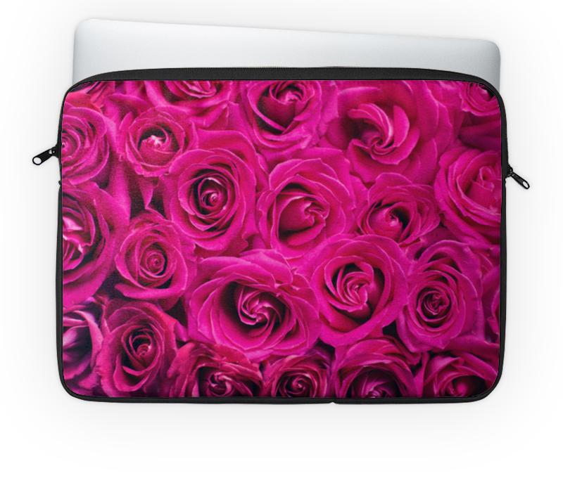 Чехол для ноутбука 14'' Printio Pink roses chokocat спасибо молочный шоколад 60 г