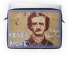 "Чехол для ноутбука 14"" ""Эдгар По, «Ворон» (Edgar Poe, The Raven)"" - edgar allan poe, эдгар аллан по, ворон, nevermore, череп"