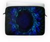 "Чехол для ноутбука 14'' ""Подсолнух"" - цветок, подсолнух, синий цвет"